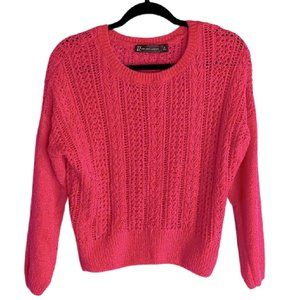 New York & Company Hot Pink  Knit Sweater Top
